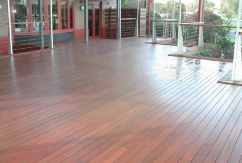 Aussie Coat on decking area