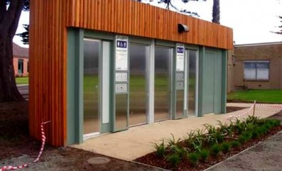 Aussie Clear on Logan reserve toilet block