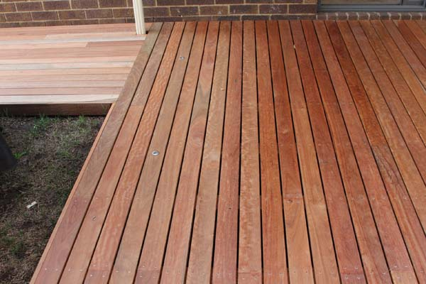 ironbark decking with exposed vs unexposed sections